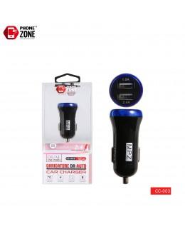 CARICATORE DA AUTO 2 USB NERO BLU DA AUTO 2,50€