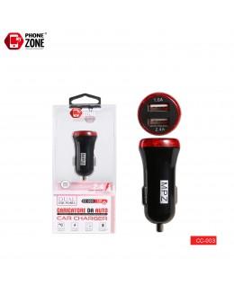 CARICATORE DA AUTO 2 USB NERO ROSSO DA AUTO 2,50€