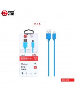 CAVO USB PER MICRO BLU ZSX-202 MICRO/V8 1,34€