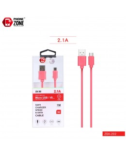 CAVO USB PER MICRO ROSSO ZSX-202 MICRO/V8 1,34€