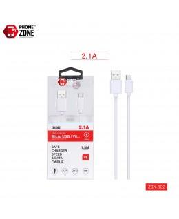 CAVO USB PER MICRO 1.5M BIANCO MICRO/V8 1,46€