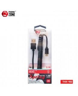 CAVO USB PER MICRO ELASTICO NERO MICRO/V8 1,83€