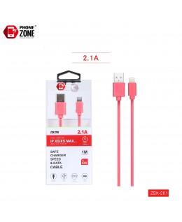 CAVO USB PER IOS ROSSO ZSX-201 IOS 1,59€