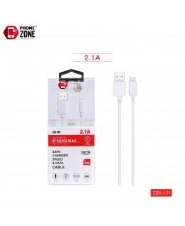CAVO USB PER IOS 20CM BIANCO IOS 1,28€