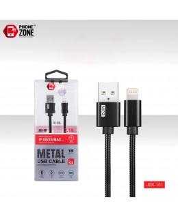 CAVO USB PER IOS METAL NERO IOS 2,50€