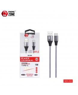 CAVO USB PER TYPE-C FAST CHARGE GRIGIO TYPE-C 2,26€