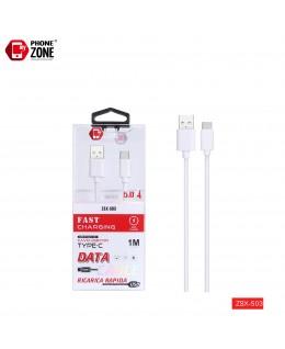 CAVO USB PER TYPE-C FAST CHARGE BIANCO TYPE-C 1,83€