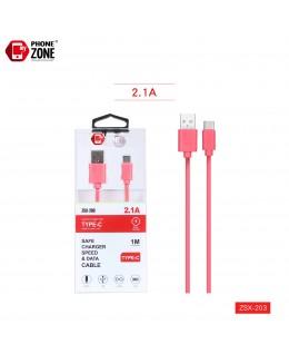 CAVO USB PER TYPE-C ROSSO ZSX-203 TYPE-C 1,59€