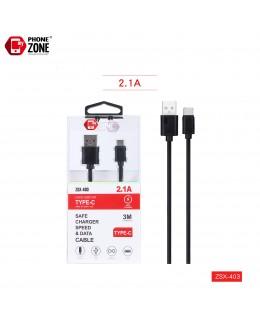 CAVO USB PER TYPE-C 3M NERO TYPE-C 2,44€