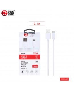 CAVO USB PER TYPE-C 3M BIANCO TYPE-C 2,44€
