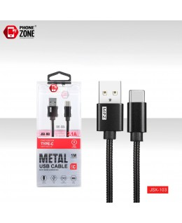 CAVO USB PER TYPE-C METAL NERO TYPE-C 2,50€