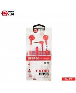 STEREO EARPHONE EXTRA BASS XEJ-010 ROSSO CUFFIE E AURICOLARI 2,44€